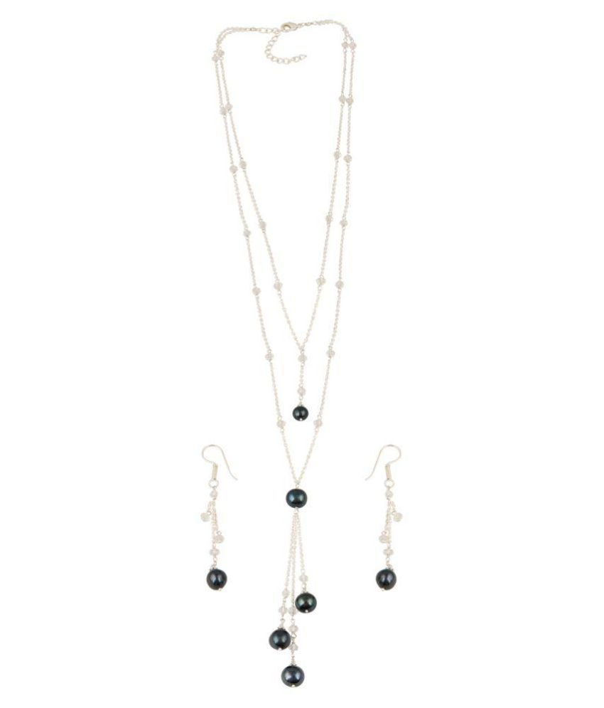 Pearlz Gallery Sublime Necklace Set With Roundish And Roundal Shape With Elegant Earring.
