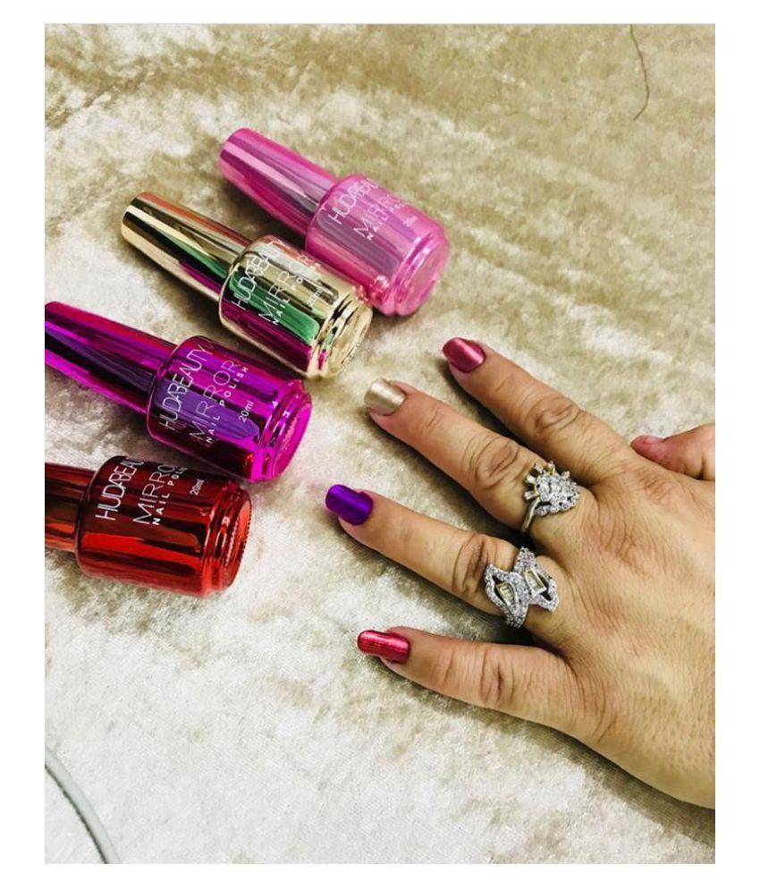 Huda Beauty Nail Polish Mirror Orted Colors Shades Set Of 3