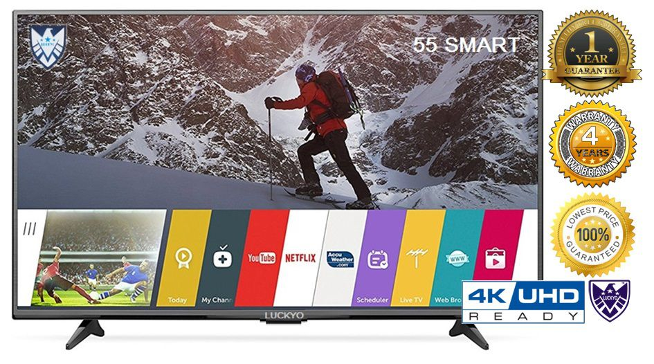 LUCKYO NA 140 cm ( 55 ) HD Plus LED Television