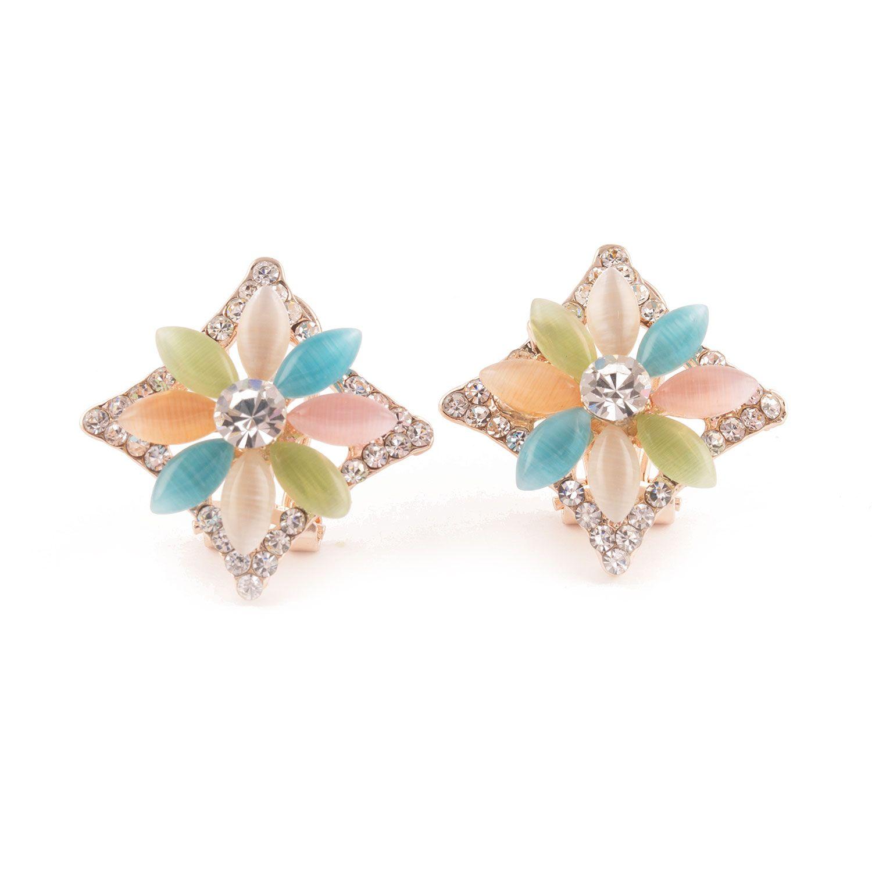 Regalia™ Women's Adjustable Assorted Colored Rhinestone Drop Earrings