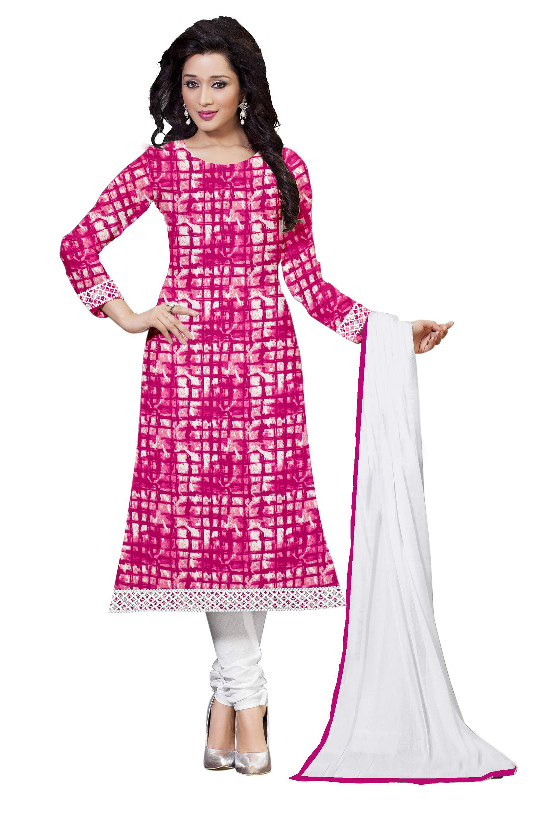 Belleza White and Pink Cotton Silk Dress Material - Buy Belleza White and  Pink Cotton Silk Dress Material Online at Best Prices in India on Snapdeal 416b02bcf