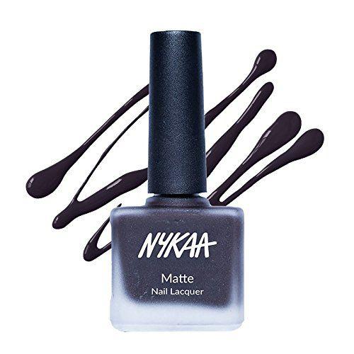 Nykaa Black Nail Enamel Nail Polish Black Matte 9 ml