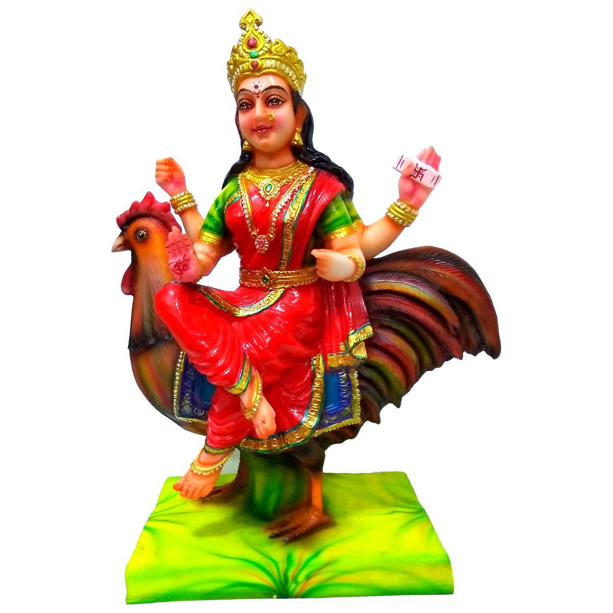 VIDHI ARTS Bahuchar Maa Polyresin Idol
