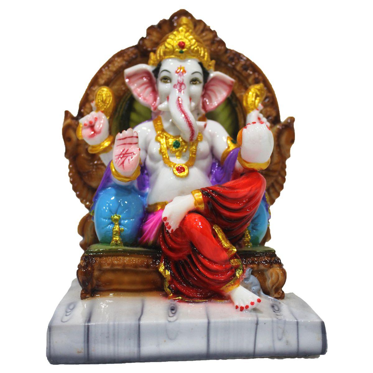 VIDHI ARTS Ganesha Polyresin Idol