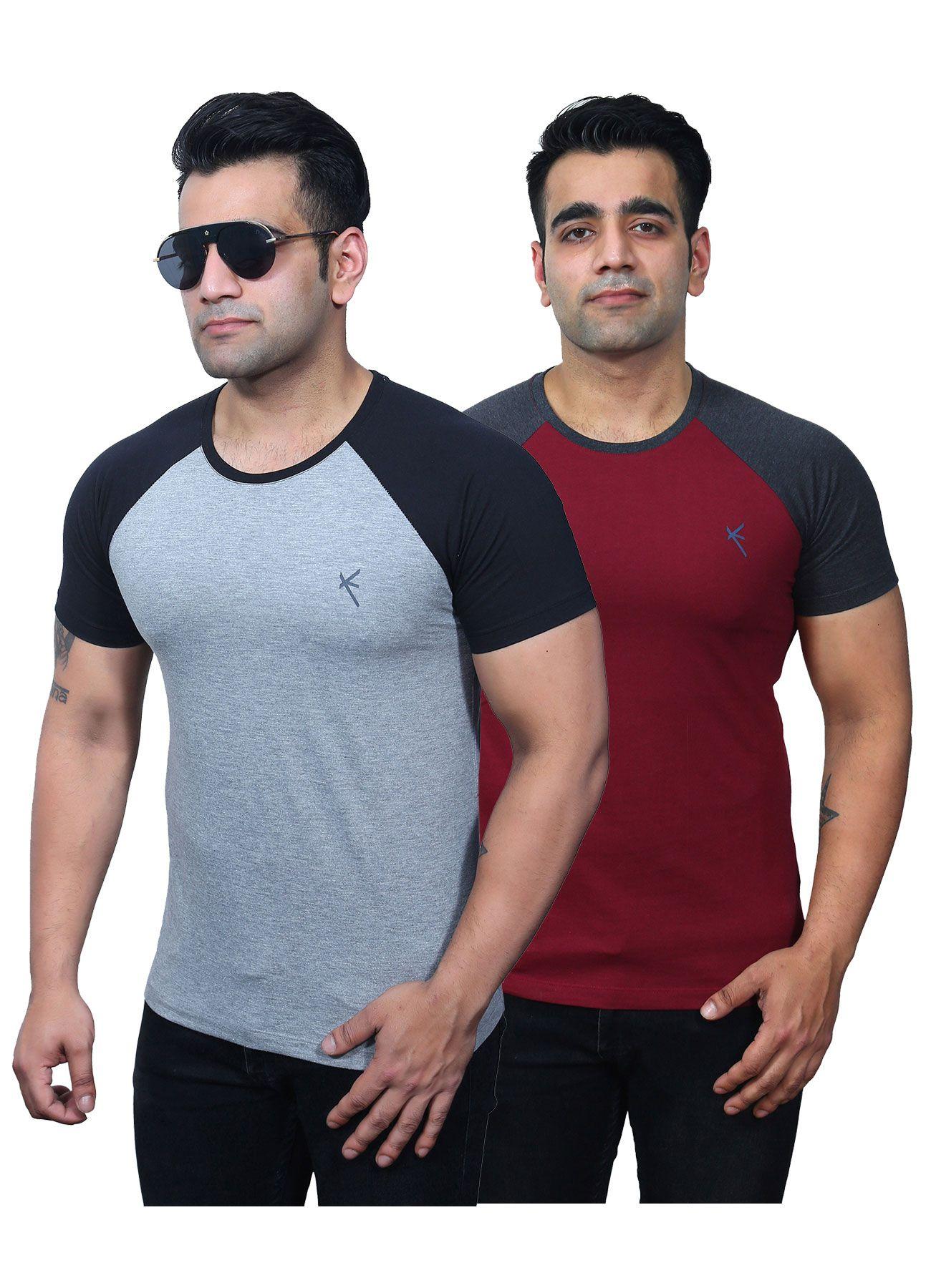 Yross Off-White Round T-Shirt Pack of 2