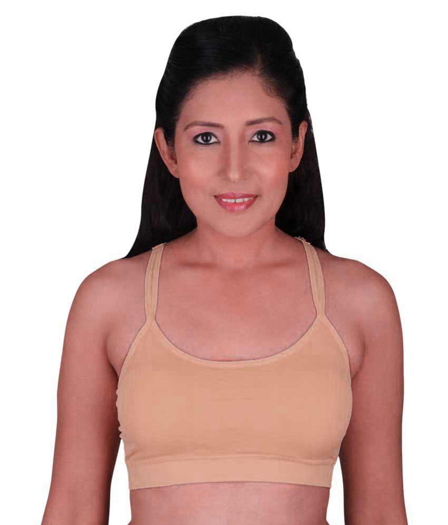 Gopal Enterprise Cotton Lycra T-Shirt Bra - Pink