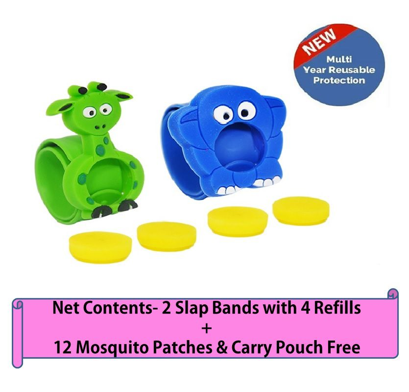 SAFE-O-KID Mosquito Repellent Band Appu + Giffy (Pack of 2)