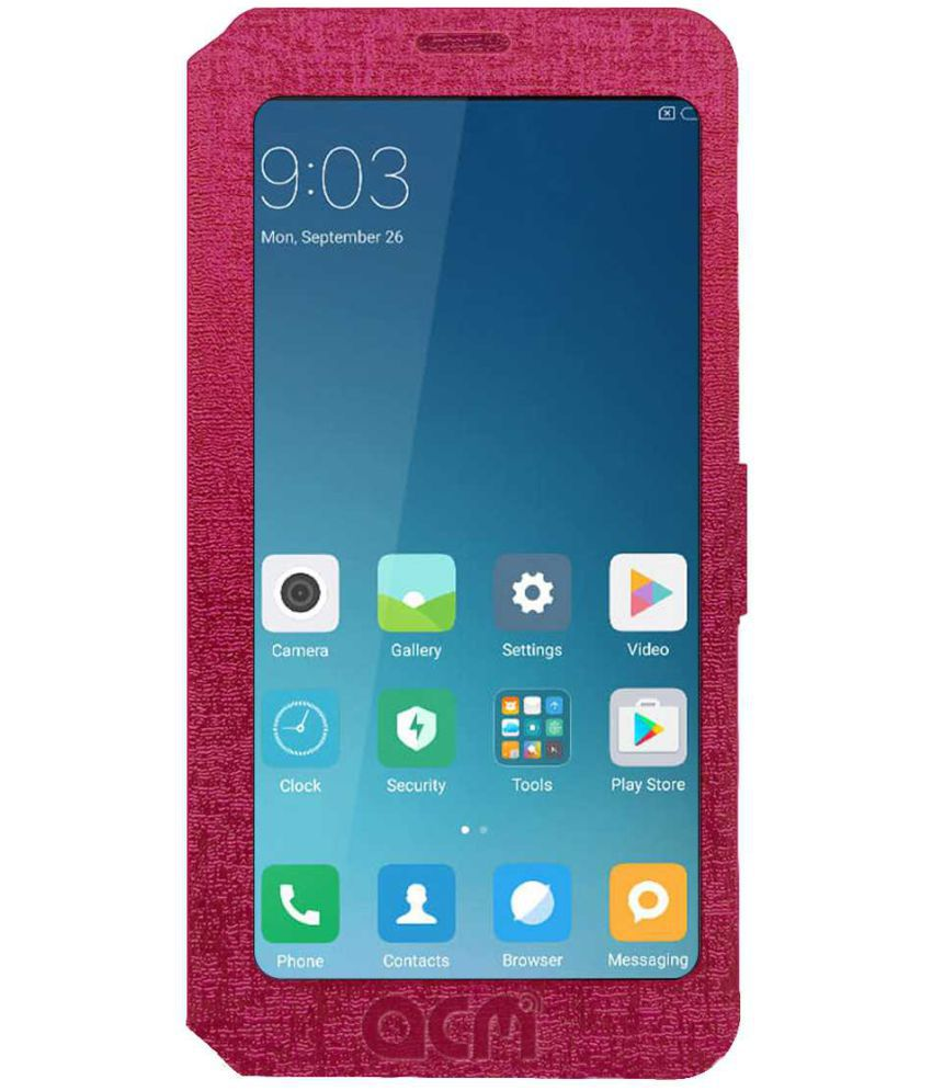 brand new 0b234 597ac Huawei Honor 7C Flip Cover by ACM - Pink