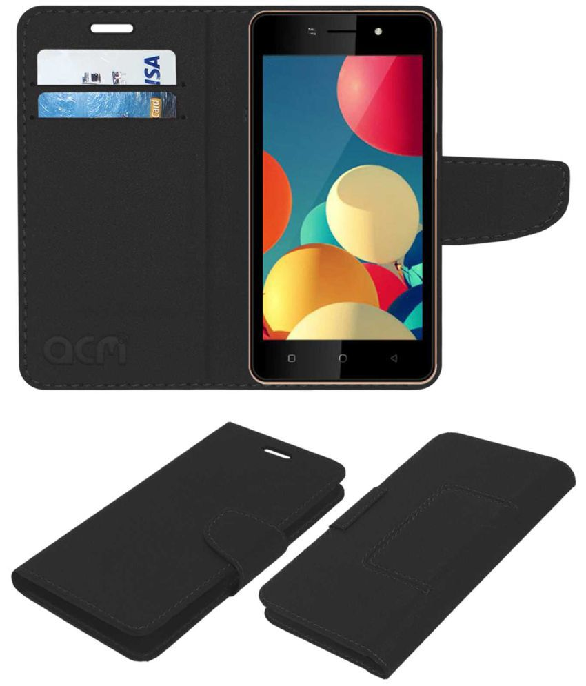 check out 32790 3f576 Itel A41 Flip Cover by ACM - Black