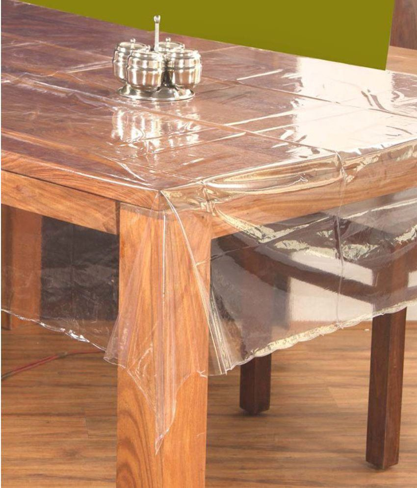Griiham 6 Seater Transparent PVC Single Table Covers