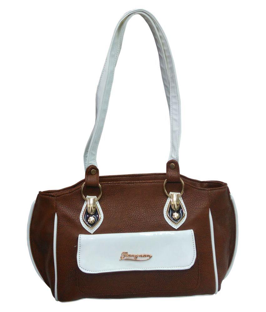 atorakushon Brown P.U. Sling Bag
