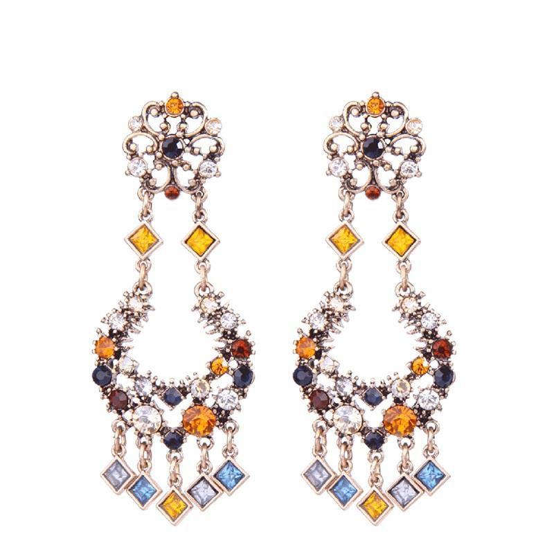 Bling Style Multicolor Vintage Earrings