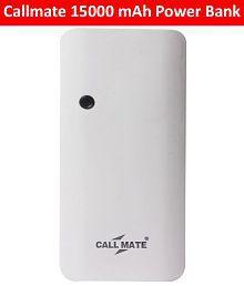 Callmate P3 15000 -mAh Li-Ion Power Bank White