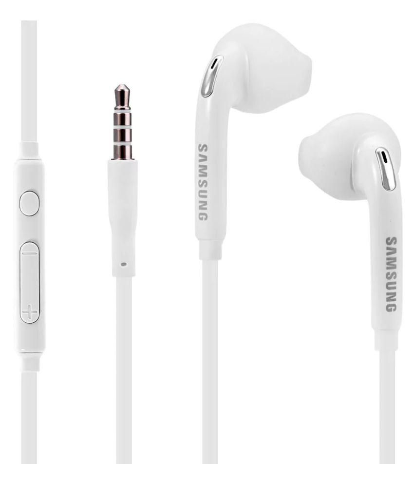 Duisah Samsung EG920 Original Headset for S9 and S9 Plus On Ear Headset  with Mic White