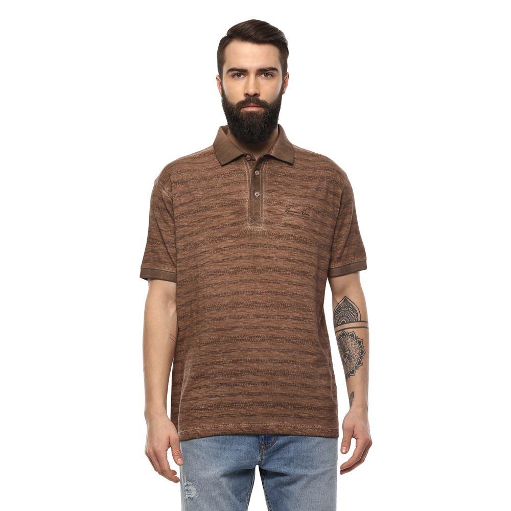AXMANN Brown High Neck T-Shirt