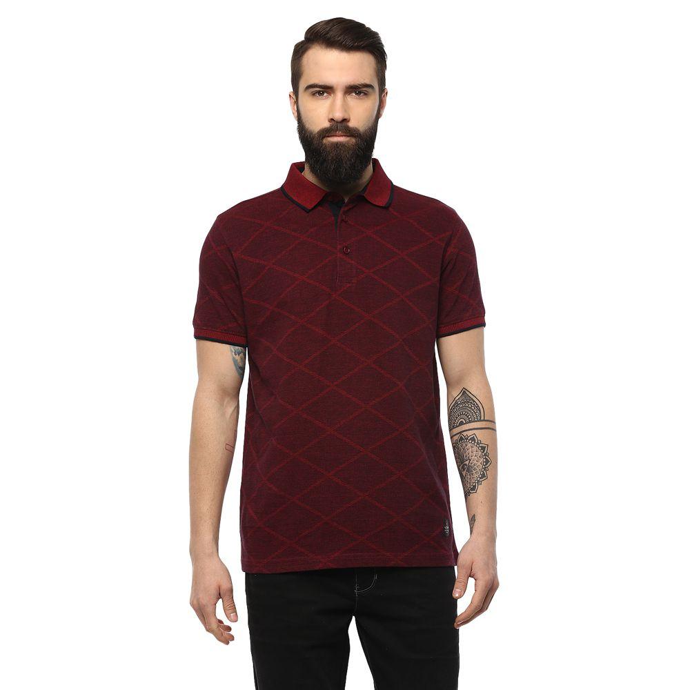 AXMANN Red High Neck T-Shirt