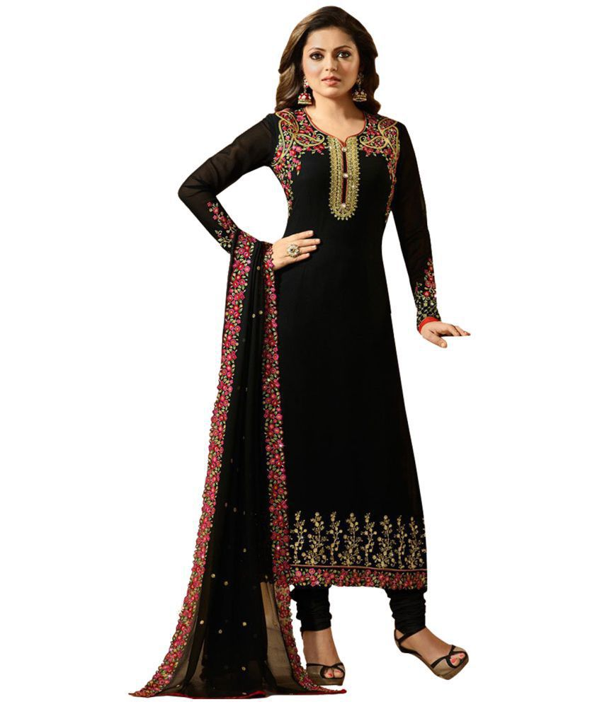 5aa372d53d Multi Retail Brown Georgette Dress Material - Buy Multi Retail Brown  Georgette Dress Material Online at Best Prices in India on Snapdeal