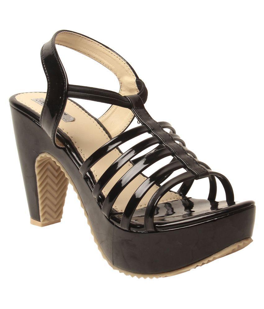 Feel It Black Block Heels