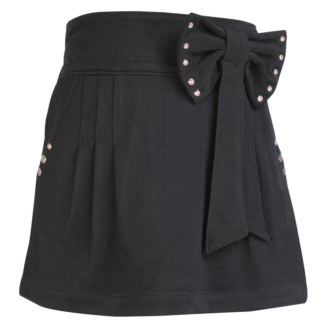 Cutecumber Girls Partywear Popcorn Knit Skorts