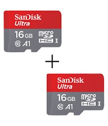SanDisk 16 GB Class 10 A1 Memory Card ( Combo of 2)