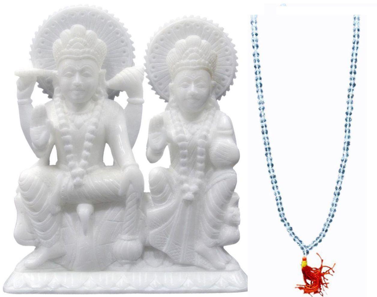 Geeta Poojan Vishnu Laxmi Marble Idol