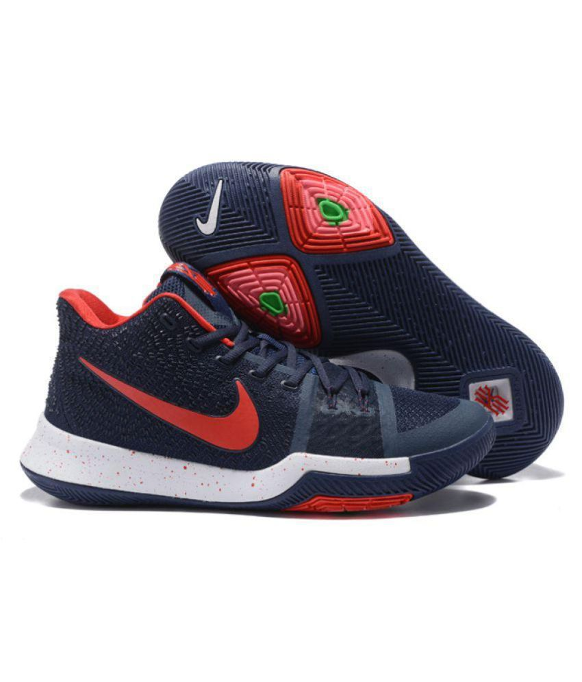 d4ea870ed020 Nike KYRIE 3 FASHION Navy Basketball Shoes ...