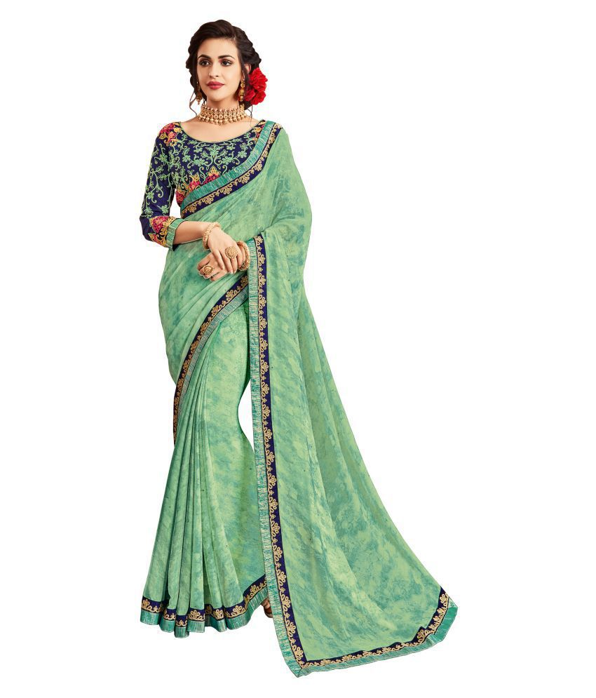 Urban India Green Georgette Saree