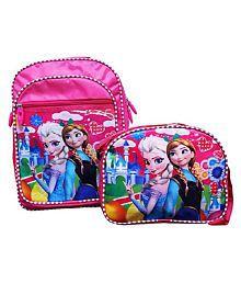 Best shop school bag combo princesses backpack for girls-pink colour