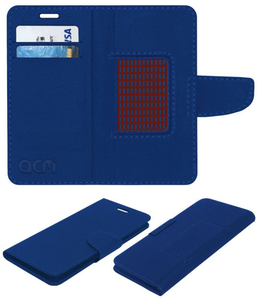 outlet store 2200e ab834 RealMe 1 Flip Cover by ACM - Blue NA