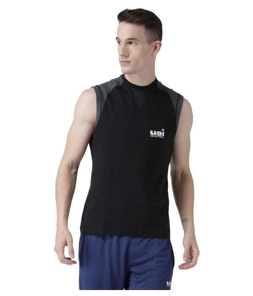 USI Universal Black And Grey Training T-Shirt