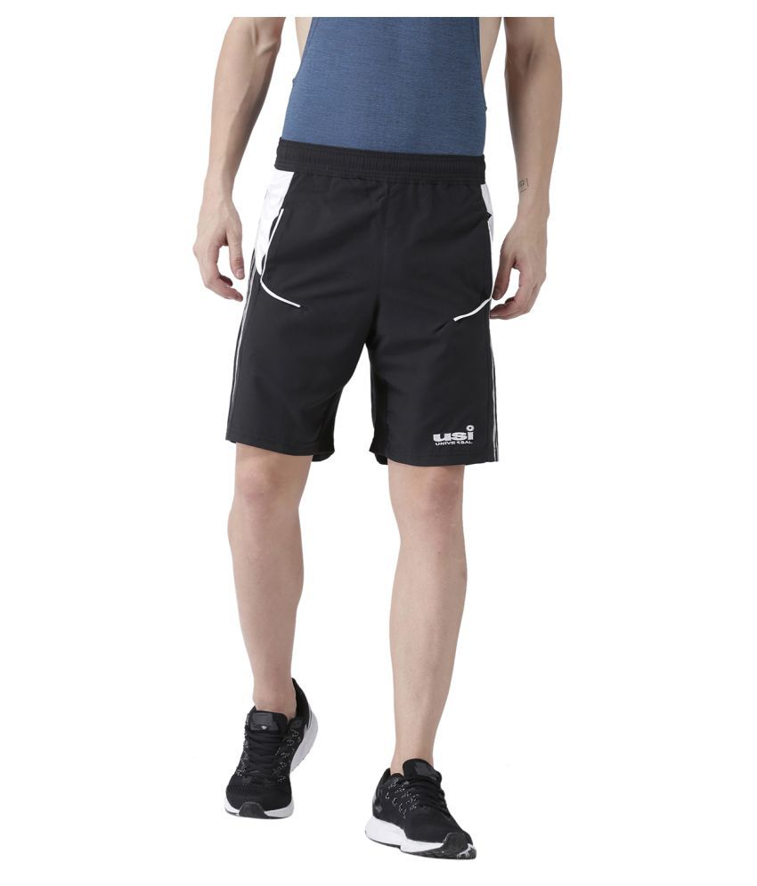 USI Universal Black And White Training Shorts