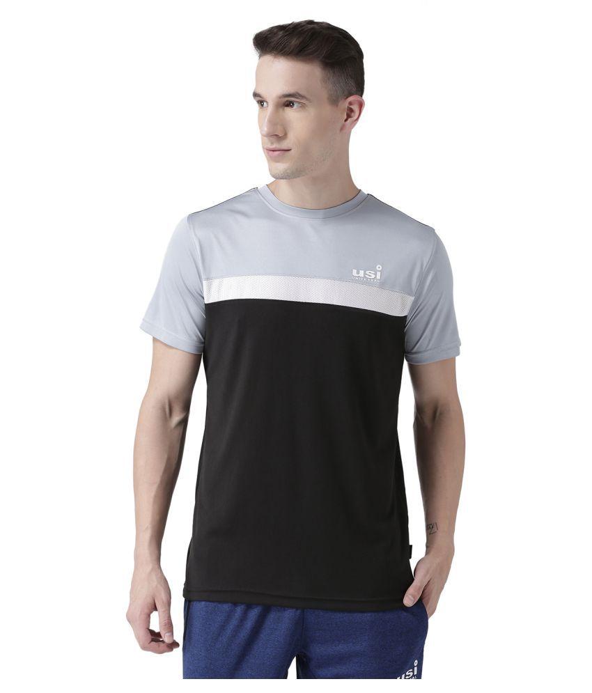 USI Universal Black, White And Grey Training T-Shirt