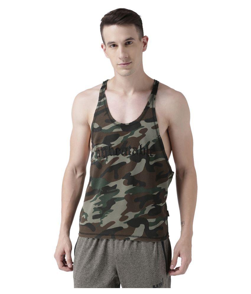 USI Universal Camo Training Tank Gym Wear/Gym Tshirts