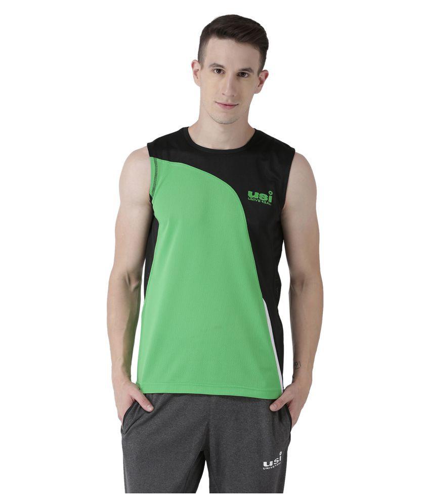 USI Universal Green And Black Training T-Shirt