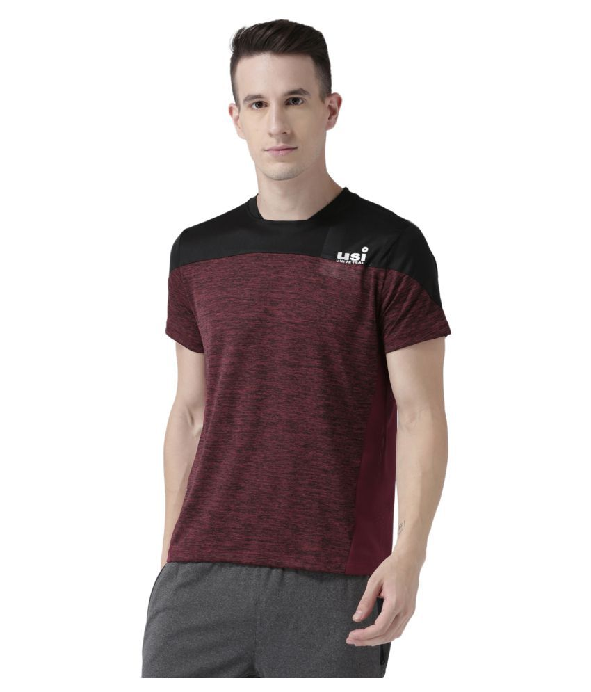 USI Universal Maroon And Black Training T-Shirt