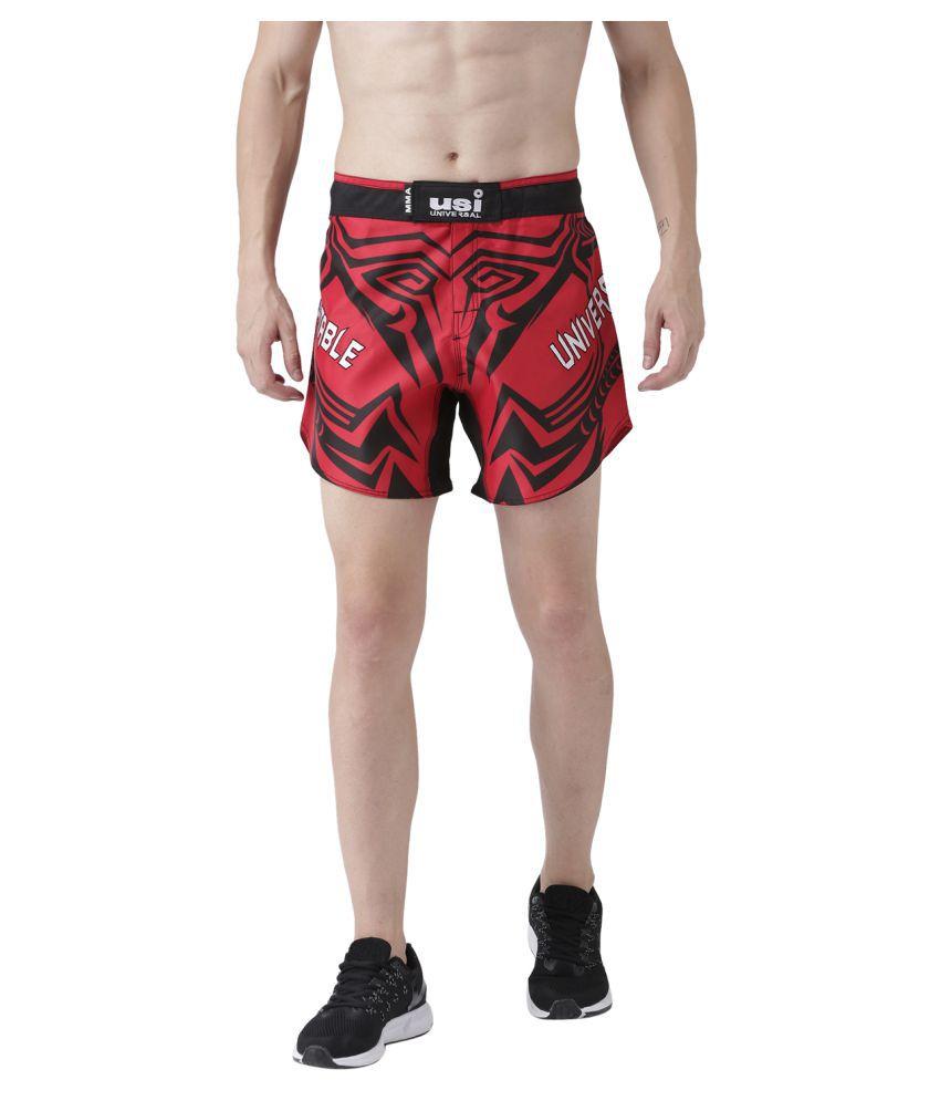 USI Universal Red And Black Training Shorts