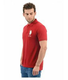 US Polo Club Red Round T-Shirt