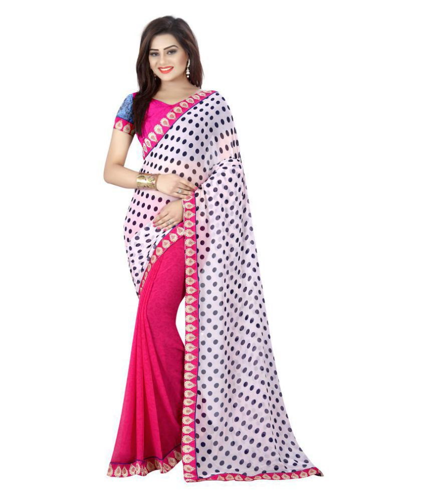 Everest Creation Pink Georgette Saree