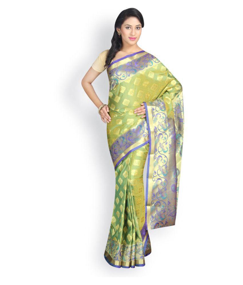 Pavecha's Green Art Silk Saree