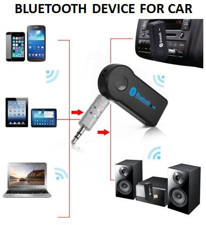 car bluetooth receiver 3 5 mm pin pair with car stereo music rh snapdeal com