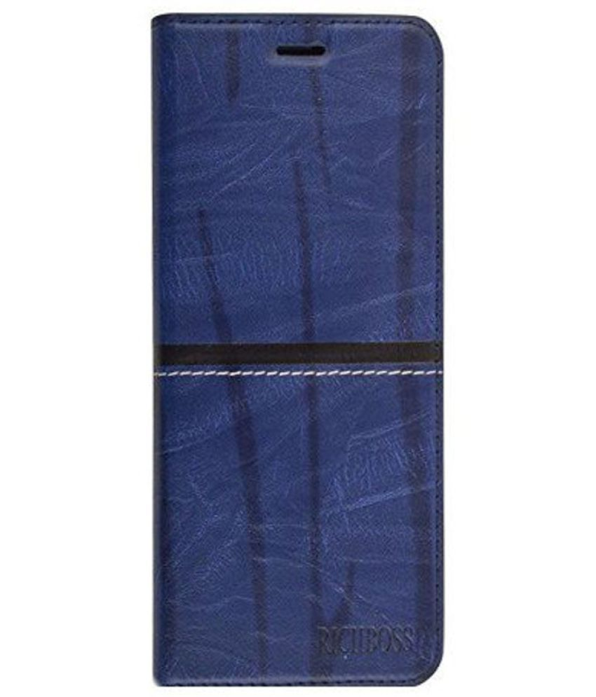 Oppo F3 Flip Cover by Romito - Blue