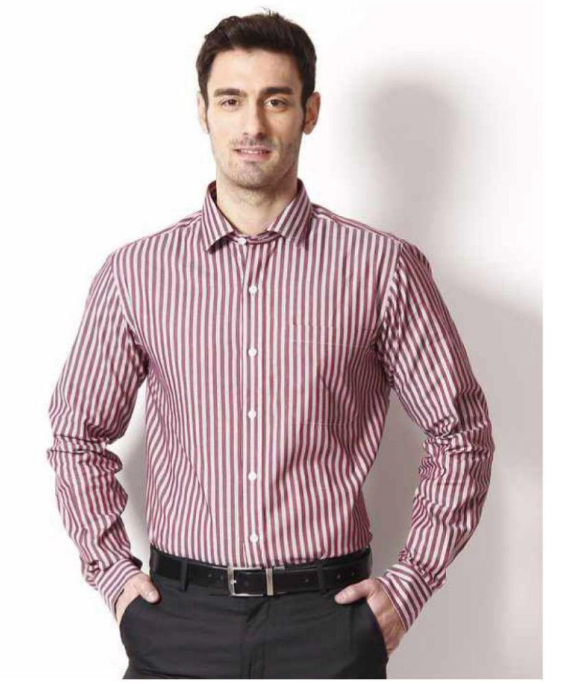 Wills Red Slim Fit Shirt