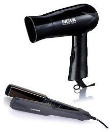 Nova NHS 860 hair straightener & NHP 8100 hair dryer combo