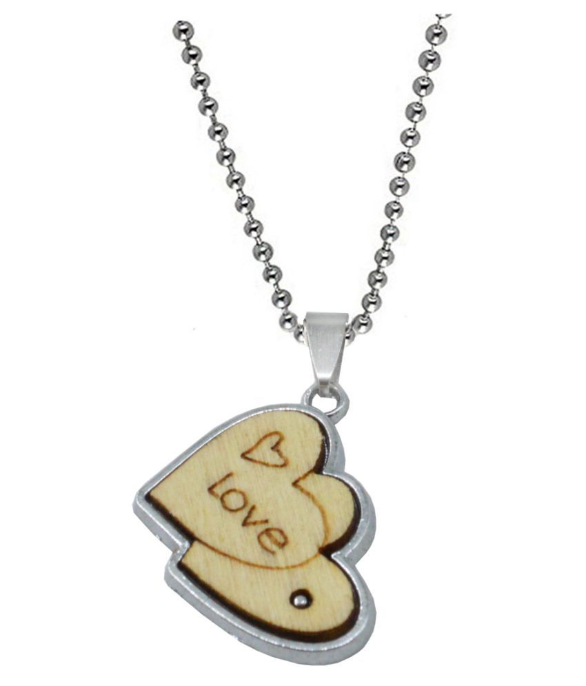 Sullery Brown Double Heart Enamel Charm  Love Wedding Marriage Engagement Jewellery Pendant Necklace