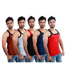 Body Secrets Multi Sleeveless Vests Pack of 5