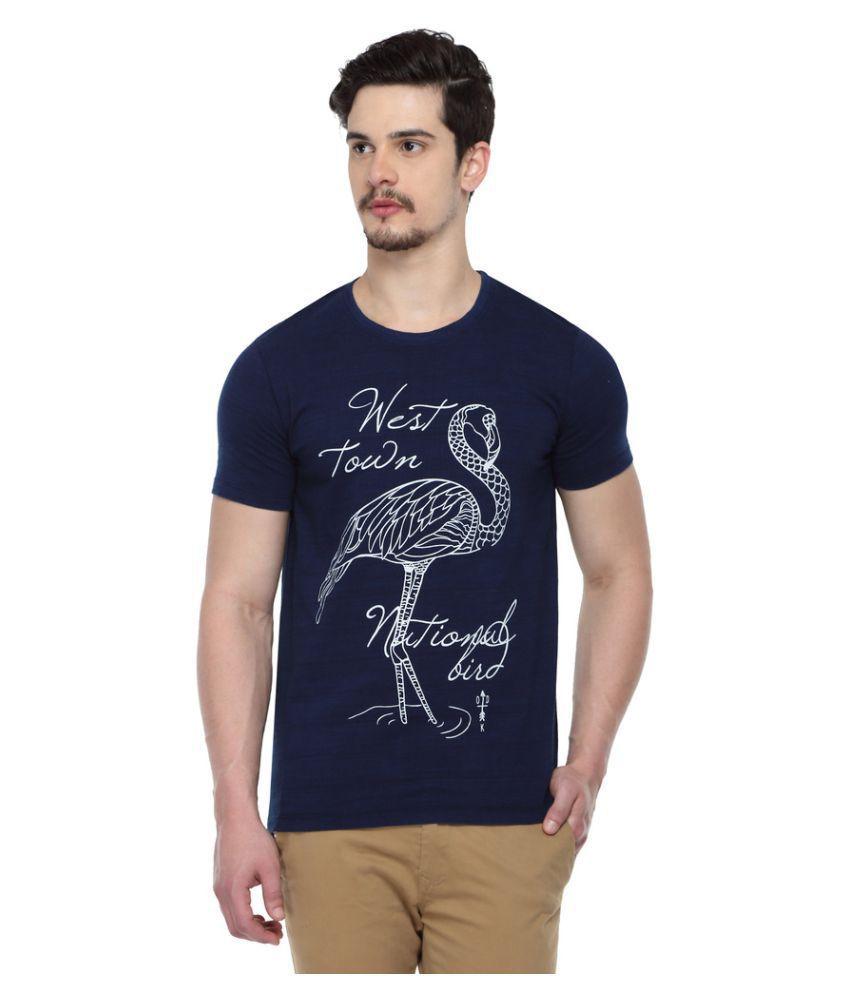 ODAKA Navy Round T-Shirt