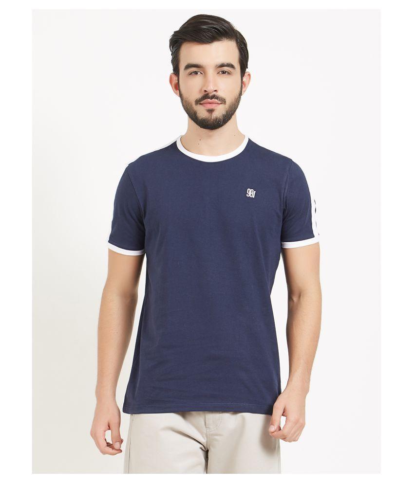 BONATY Navy Round T-Shirt Pack of 1