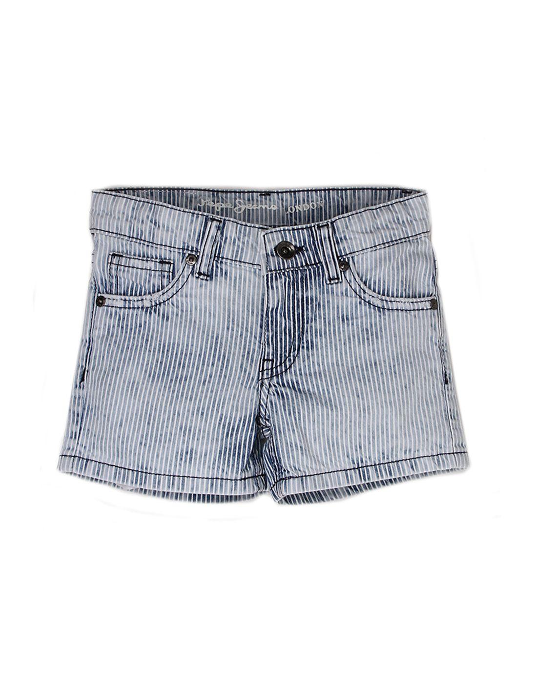 Pepe Jeans Girls Cotton  Regular Casual Grey Short