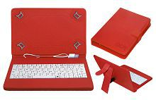 Acm Usb Keyboard Case for Apple Ipad Mini 2 Tablet Cover Stand - Red