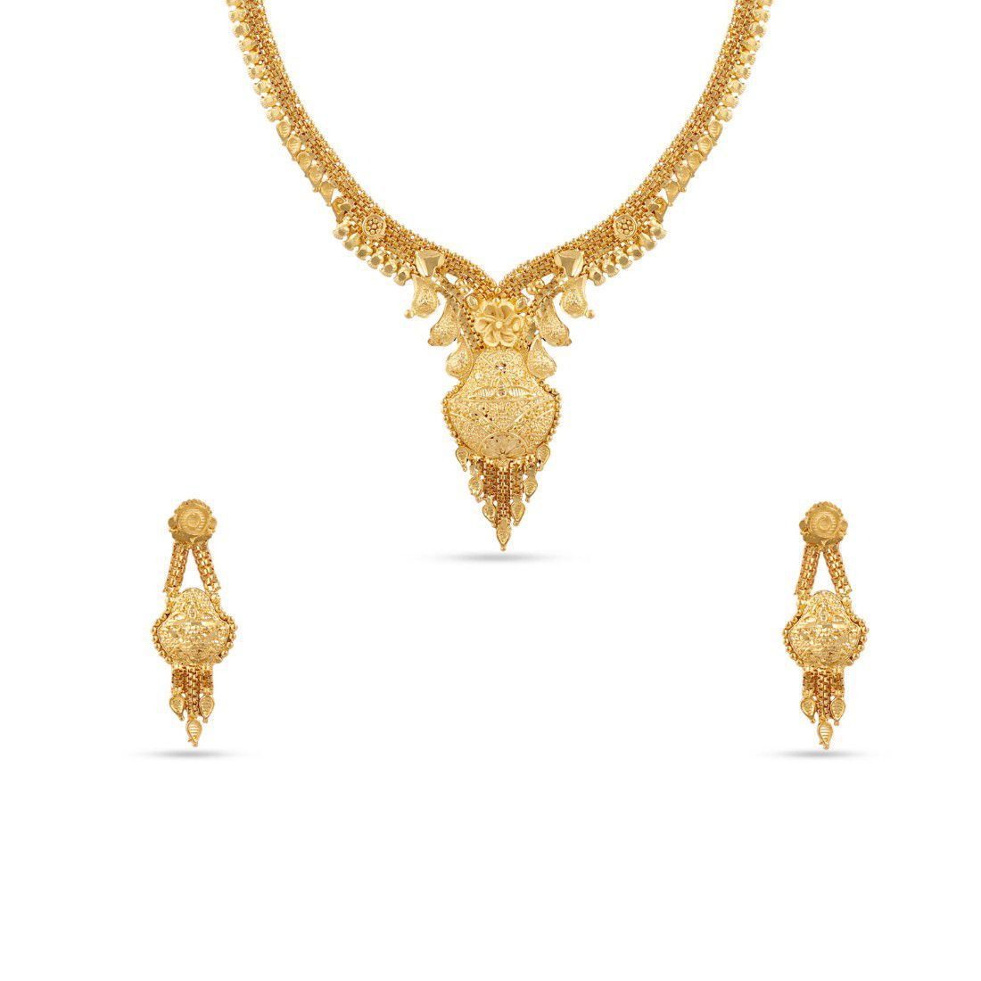Kalyani Covering 22K Gold plated Necklace set for Women and Girls